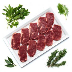 10 Sirloin Steaks   £10